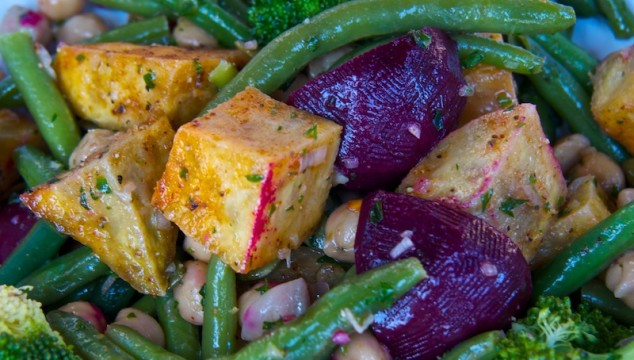 Salad at Karaka cafe in Wellington New Zealand