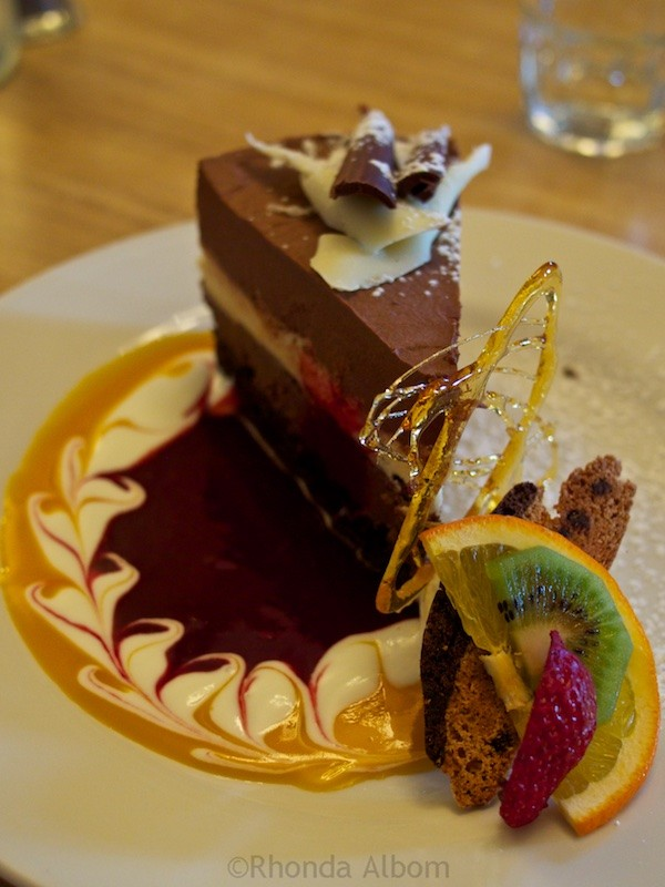 One of the many huge desserts at Strawberry Fare in Wellington New Zealand