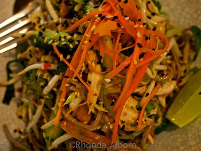 Salad at Egmont Street Eatery in Wellington New Zealand