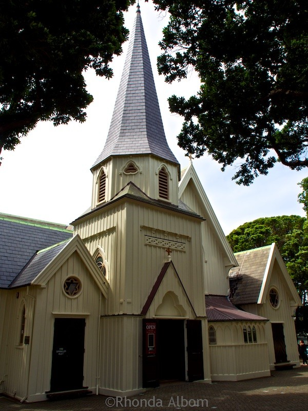 Exterior Old St Paul Cathedral in Wellington New Zealand