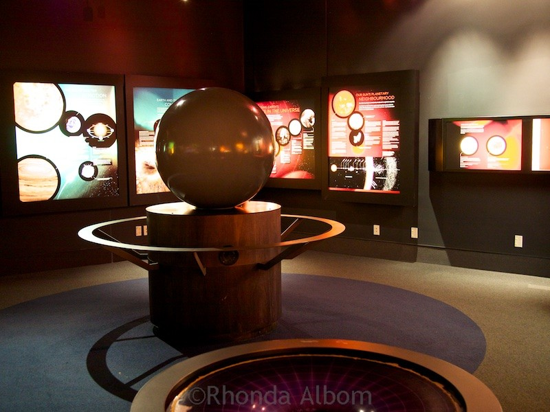 Displays at Stardome Observatory in Auckland New Zealand