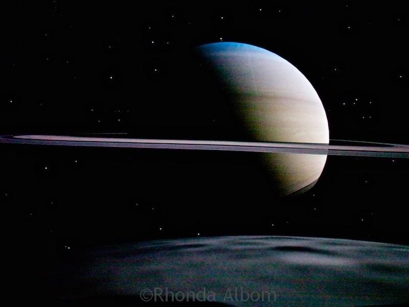 Saturn seen in the dome theatre at Stardome Observatory in Auckland New Zealand