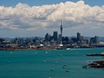 Auckland as seen from North Head in Devonport New Zealand