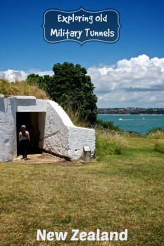 Tunnel entrance at North Head Historic Reserve in New Zealand