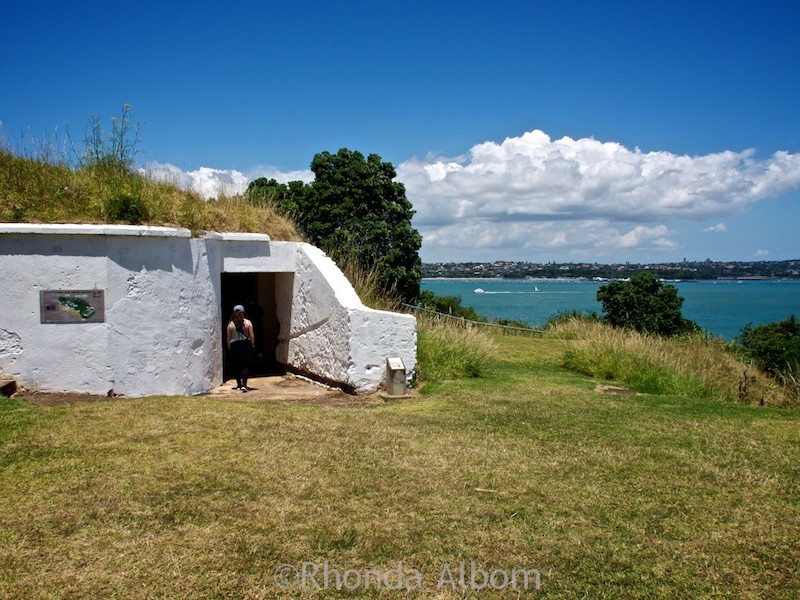 Entrance to a tunnel at North Head Historic Reserve, one of the free activities in Auckland New Zealand