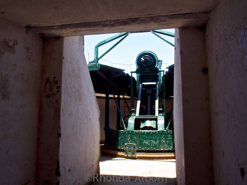 Disappearing Gun at North Head Historic Reserve in Devonport originally built to protect Auckland New Zealand