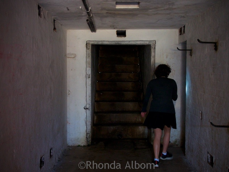 Bring a flashlight if you are going Inside the military tunnel complex at North Head Historic Reserve in New Zealand