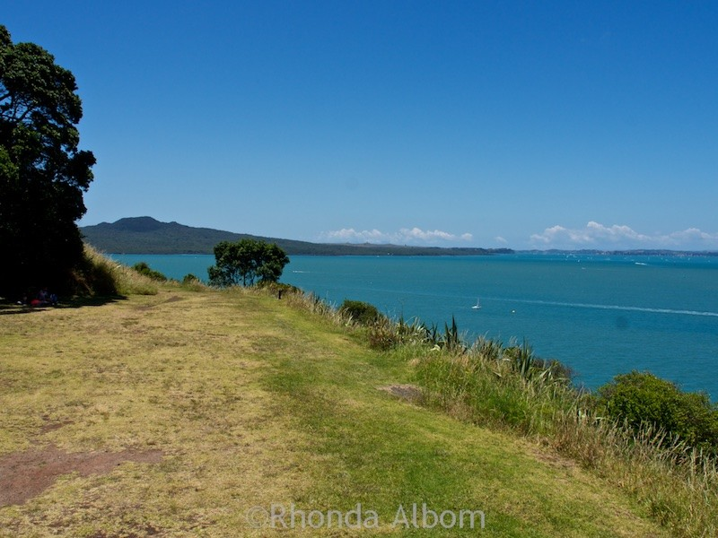 View from a tunnel exit at North Head in New Zealand