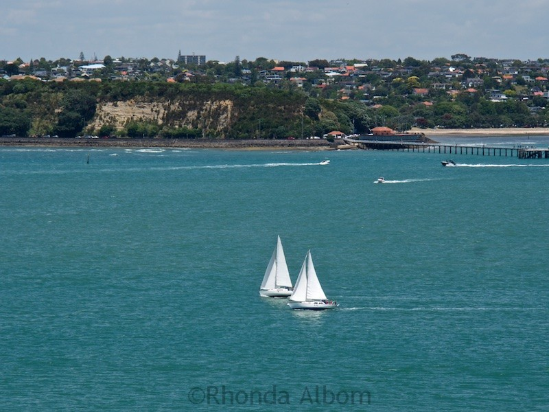 Two yachts on the Hauraki Gulf