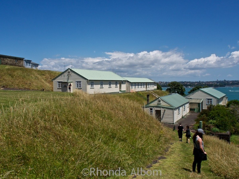 Military buildings at North Head Historic Reserve outside of Auckland New Zealand