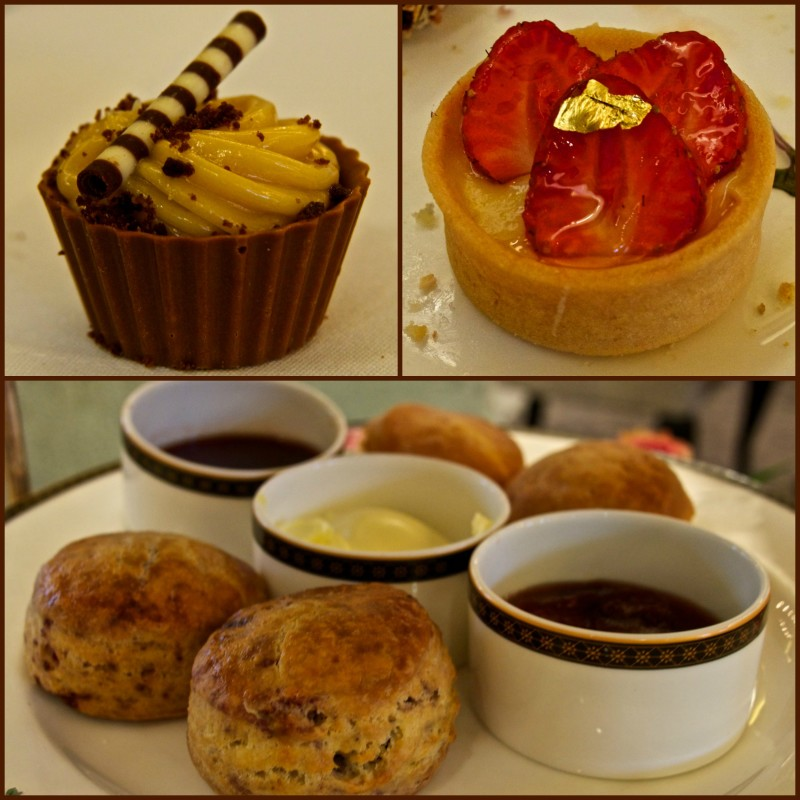 Some of the food served at Afternoon Tea at Palm Court in the Langham Hotel, Auckland New Zealand