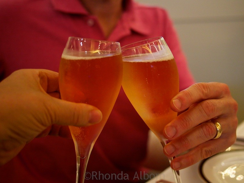 A Champagne toast in New Zealand