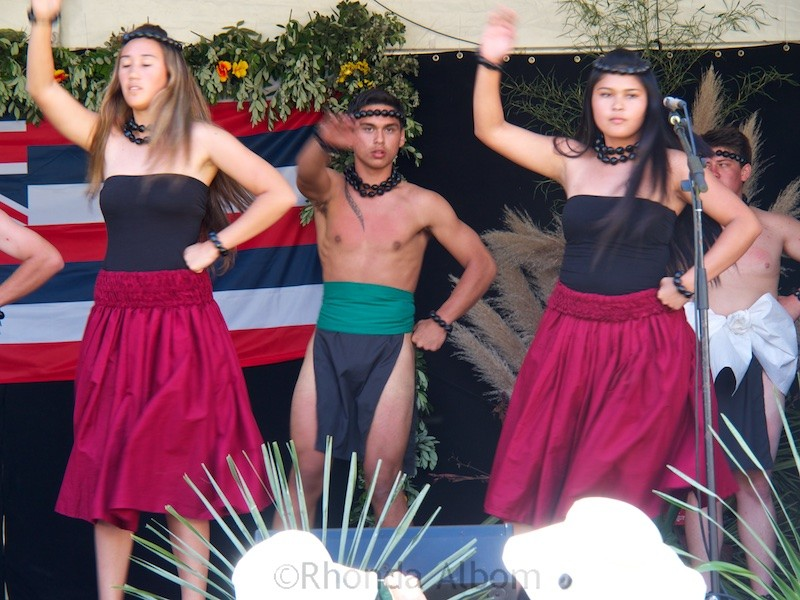 Hawaiian school group perform at the Pasifika Festival in Auckland New Zealand
