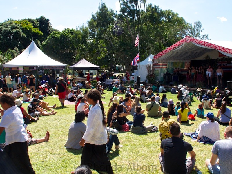 Crowds at the Pasifika Festival in Auckland New Zealand