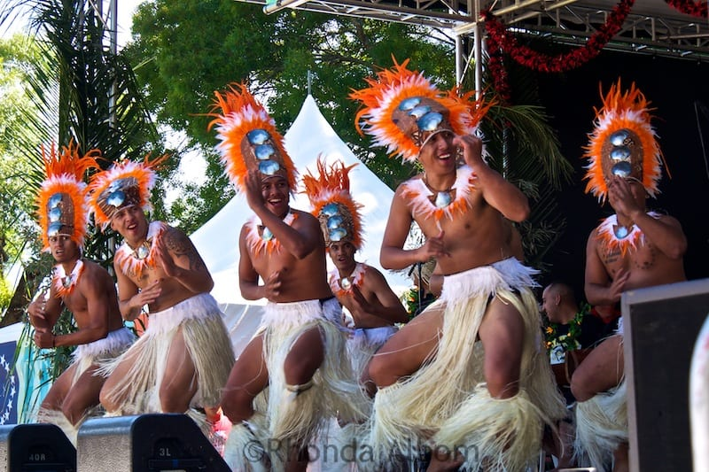 Cook Island dancers at the Pasifika Festival in Auckland New Zealand
