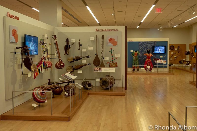 Inside the Musical Instrument Museum in Phoenix, Arizona one of the stops on our USA Roadtrip