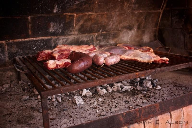 An asado, or Argentinian barbecue, in Santa Fe Agentina. Copyright Sarah E. Albom 2016