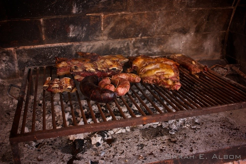 Cooked meat from an asado, or Argentinian barbecue, in Santa Fe Agentina. Copyright Sarah E. Albom 2016