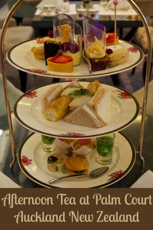 Afternoon Tea at Palm Court in the Langham Hotel, Auckland New Zealand
