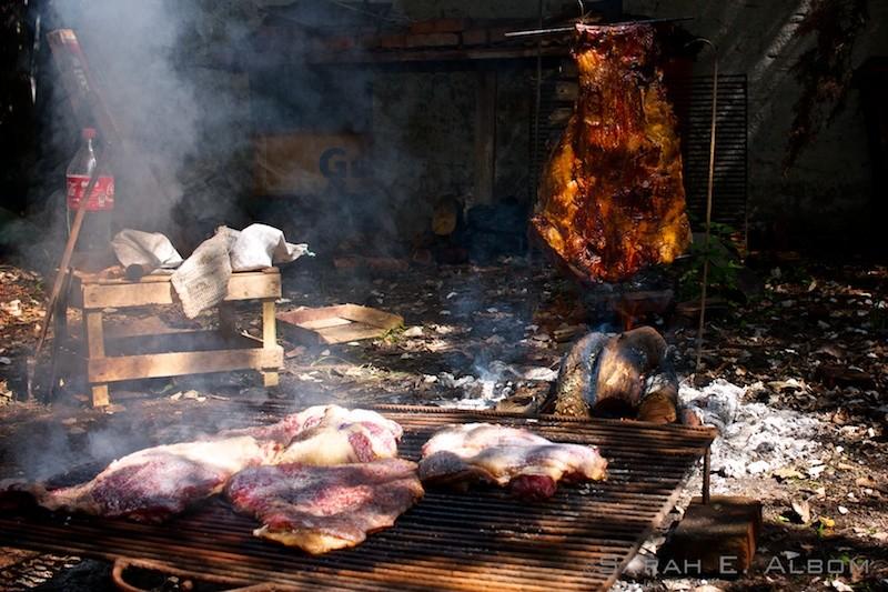 Traditional asado. Photo copyright ©Sarah Albom 2016