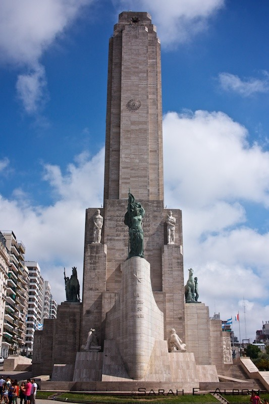 Flag Memorial Tower in Rosario, Argentina. Photo copyright ©Sarah Albom 2016
