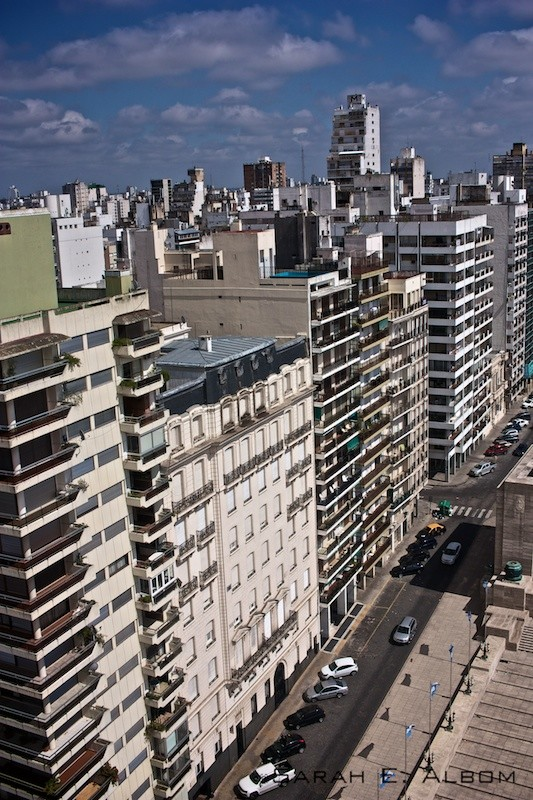 Rosario from the top of the National Flag Memorial tower in Argentina. Photo copyright ©Sarah Albom 2016