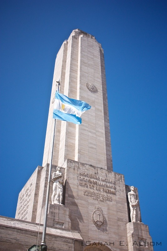 National Flag Memorial Tower in Rosario, Argentina. Photo copyright ©Sarah Albom 2016