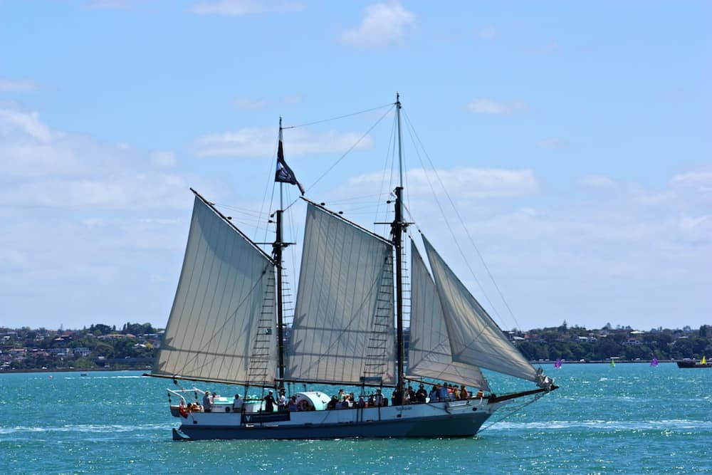 Ocean Sailing? In days past, today this boat just goes out from the Auckland Maritime Museum