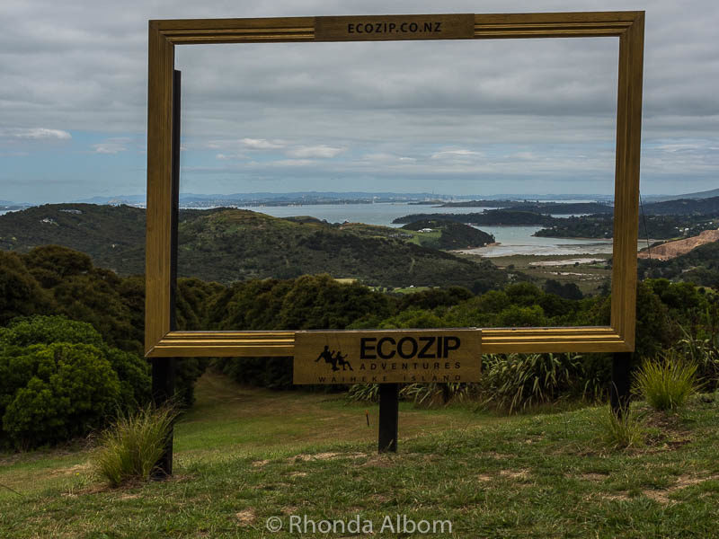 The view from Eco Zip on Waiheke Island Auckland New Zealand