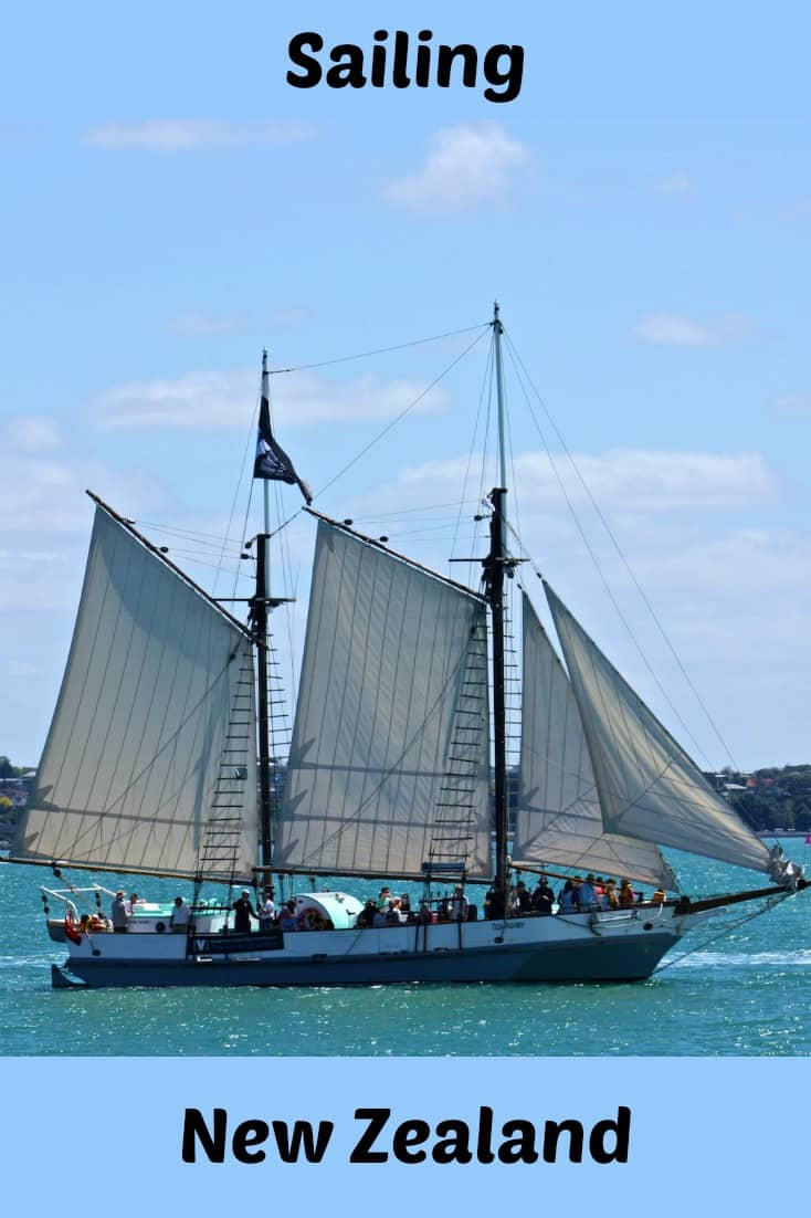 The Ted Ashby is a sailing scow that takes daily passengers from the Auckland Maritime Museum in New Zealand