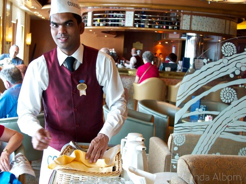 Cookies and milk on Princess Cruises