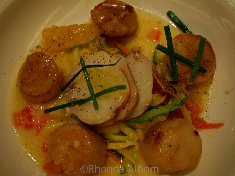 A dinnertime favorite, I loved this scallop dinner when I sailed with Princess Cruises.