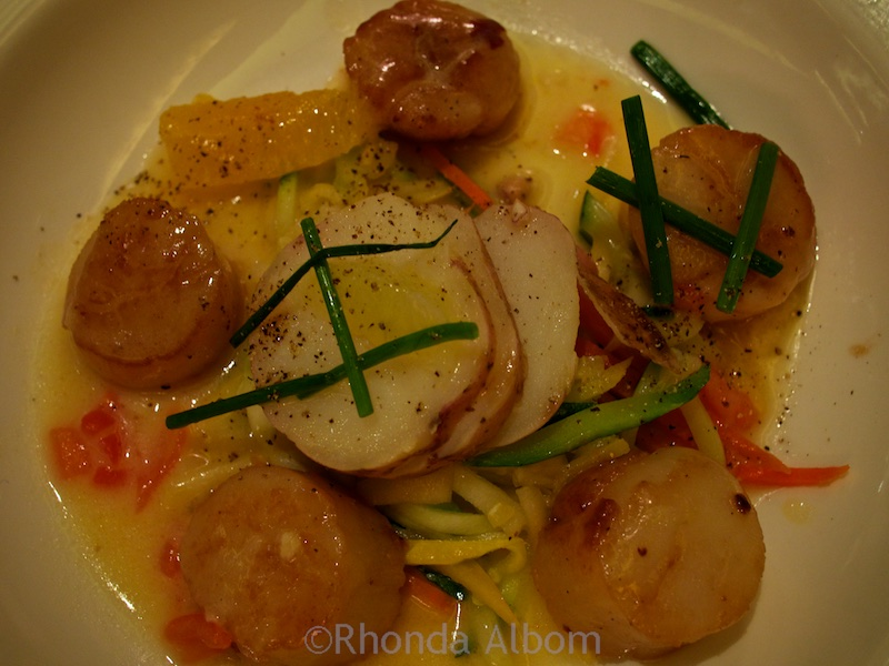 A dinner time favorite, I loved this scallop dinner when I sailed with Princess cruises.