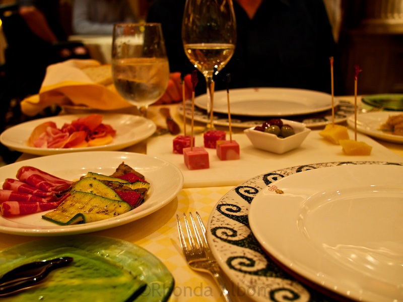 Antipasto started our dinner at one of the specialty restaurants on the Island Princess
