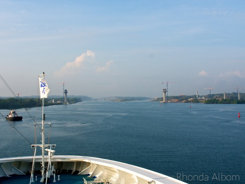 Approaching the Panama Canal from the Caribbean Sea