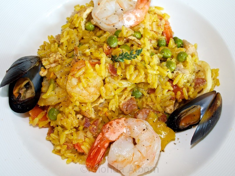 Paella at its best onboard the Island Princess