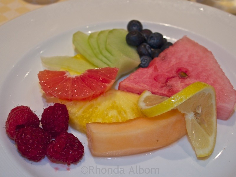 Healthy eating onboard a Princess Cruise ship