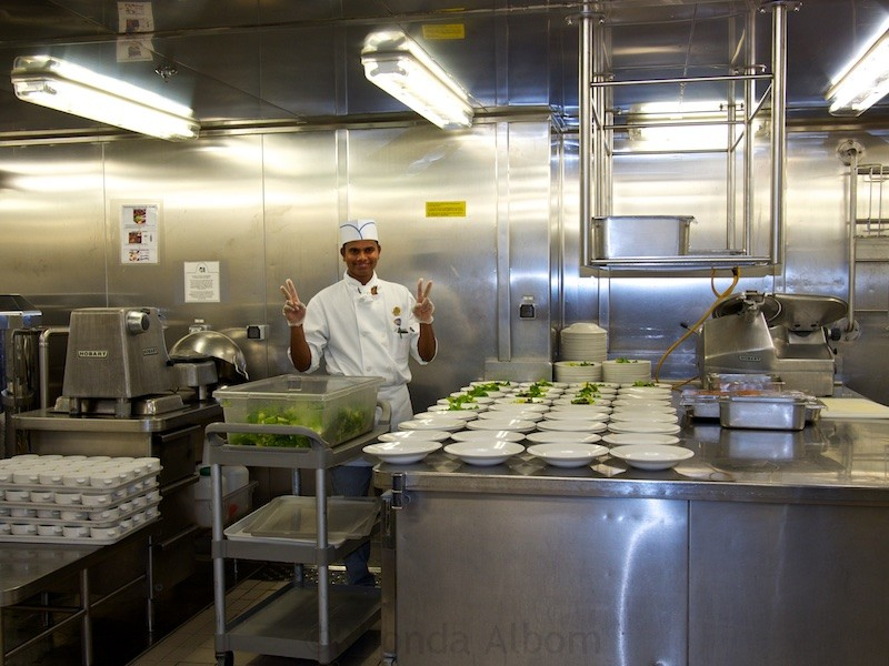 Galley tour onboard the Island Princess cruise ship