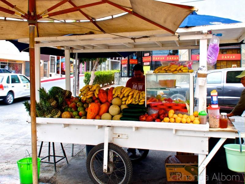 A fruit cart in Cabo San Lucas Mexico