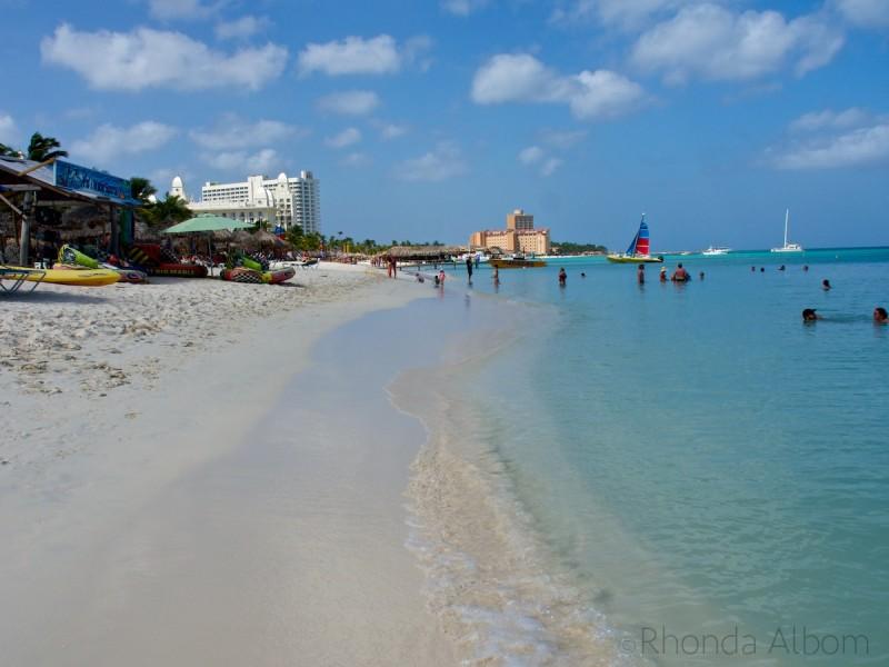 Palm Beach on the Caribbean island of Aruba