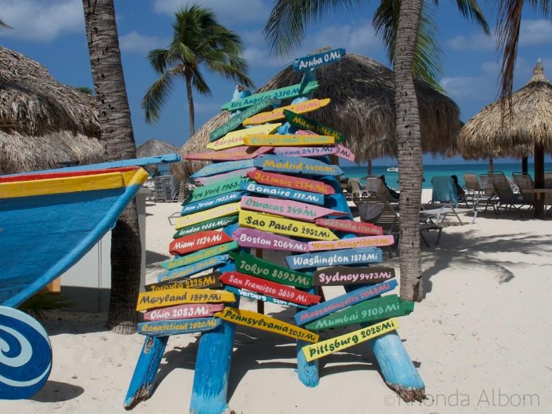 Aruba Beach Destination Sign