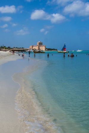 Palm Beach on Aruba in the Caribbean