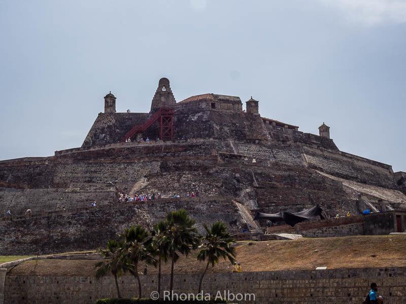 Castillo de San Felipe De Barajas in Cartagena Columbia is the largest Spanish fort built in the New World.