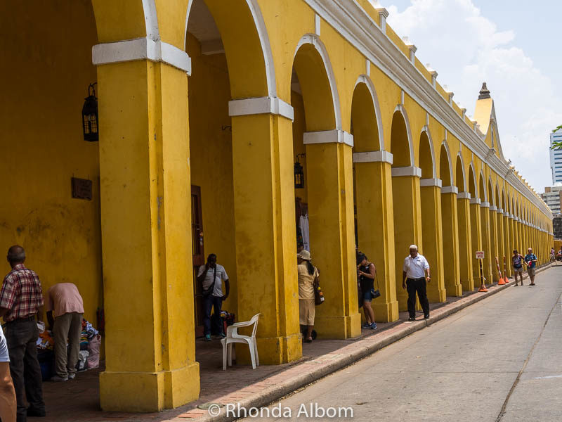 Las Bovedas a former prison, now a tourist shopping area in Cartagena Colombia