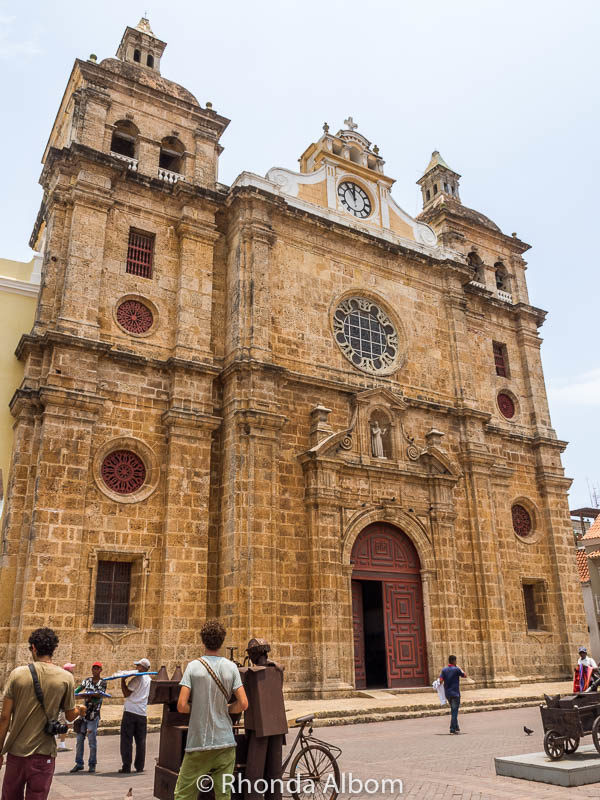 St. Peter Claver church in the old city of Cartagena Colombia