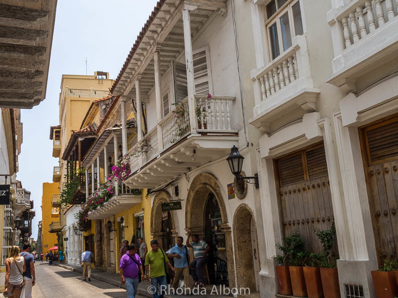 A local street in Cartagena Colombia