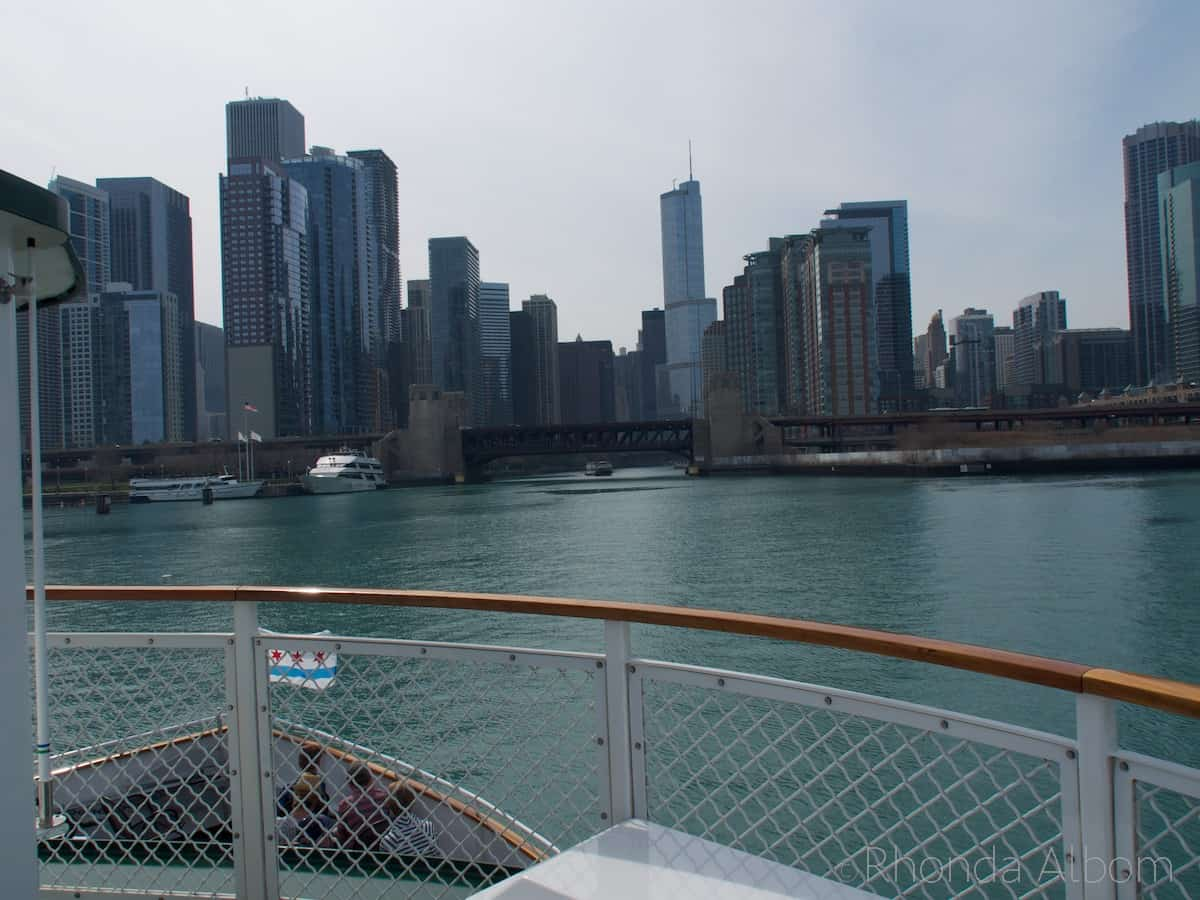 Chicago skyline as seen from a river tour