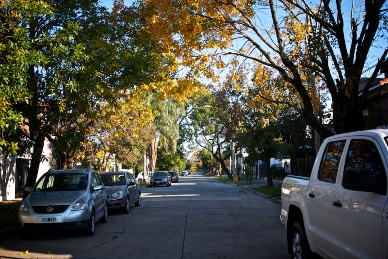 A quite suburban street in Santa Fe on our Argentina travel guide