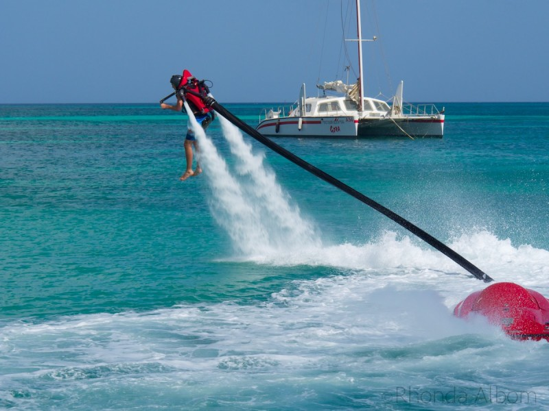 Jet Flyer is one of many water sports options available on Aruba