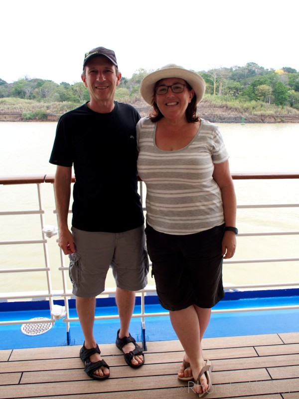 Rhonda and Jeff Albom in the Panama Canal